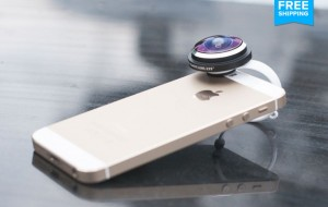 Lente fisheye per iPhone, iPad, Samsung, HTC: a soli 21 euro